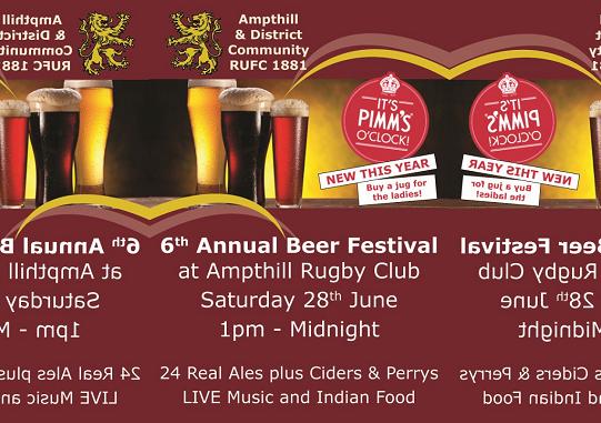 6th Annual Beer Festival June 28