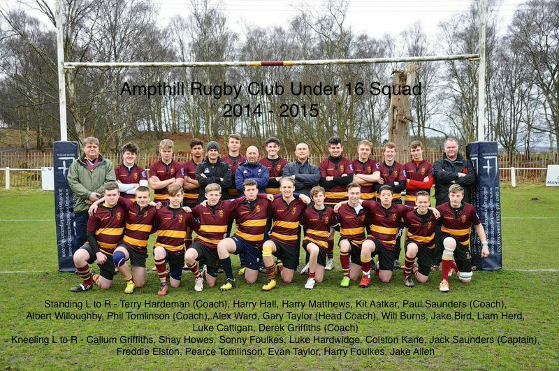 U16 End of Season Report 2015