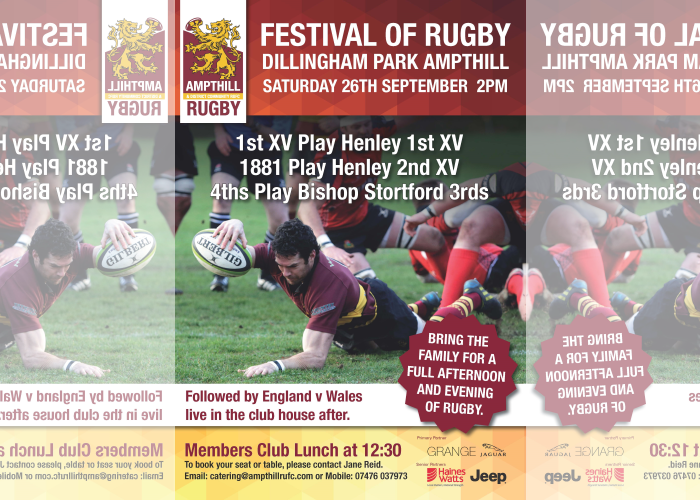 Festival Of Rugby, Sat Sep 26, 2015
