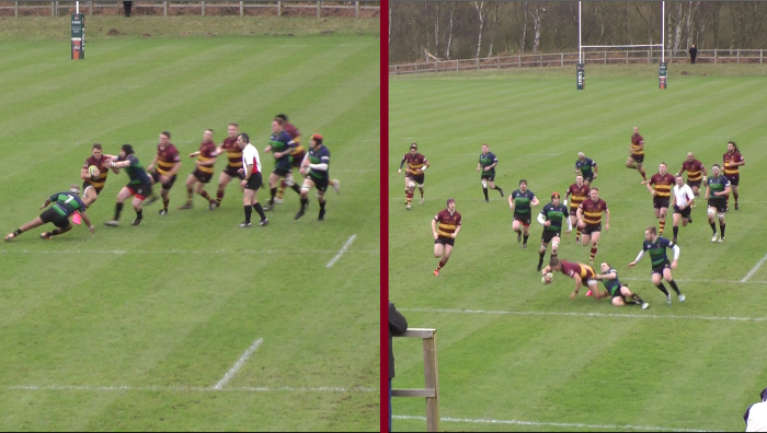 George Elliot Beats Three Defenders For A Solo Try