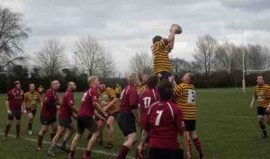 Hitchin 3s v Ampthill 5s, LIneout