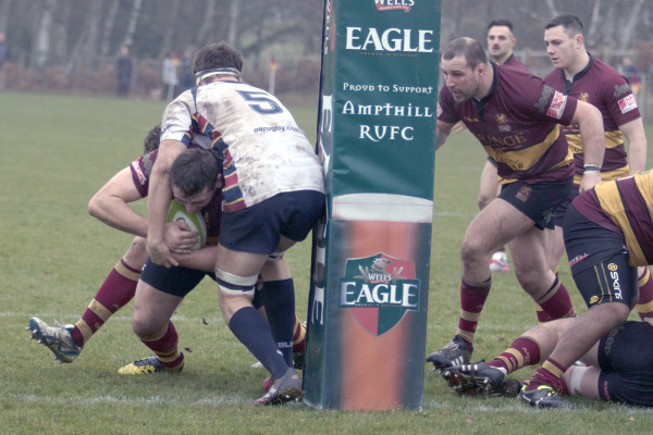 Matt Collins About To Score His Try