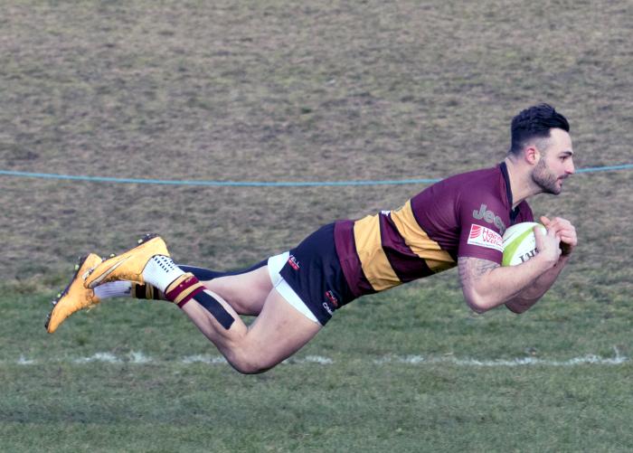 Sam Baker Try v Loughborough