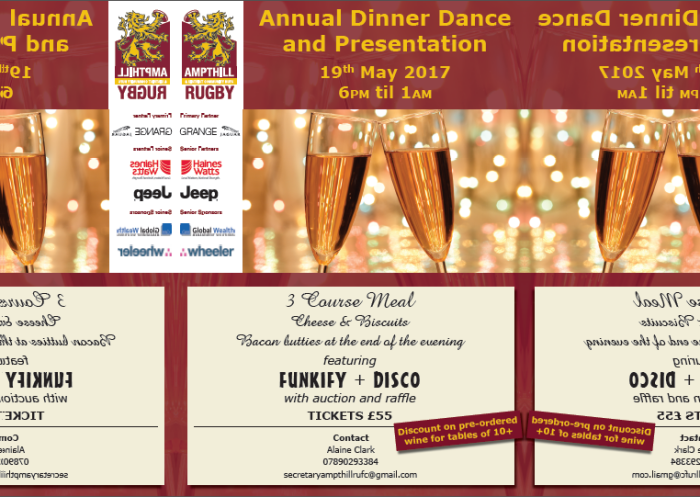 2017 Annual Dinner Dance & Presentation Evening, May 19, 18:00-01:00