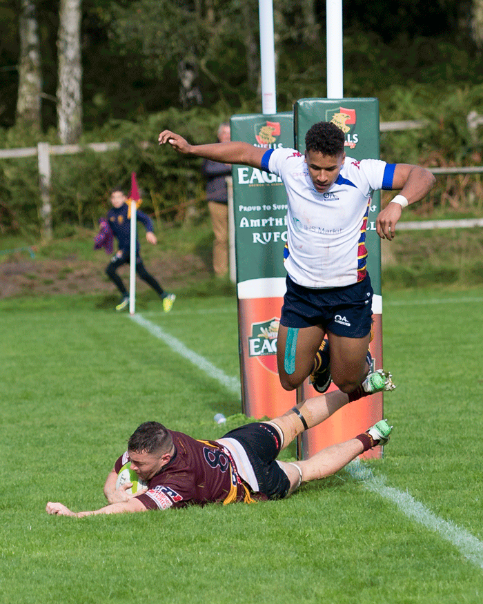 Syd Blackmore's Second Try v Old Albanian