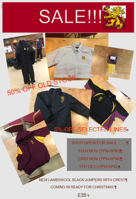 Shop Sale Autumn 2017