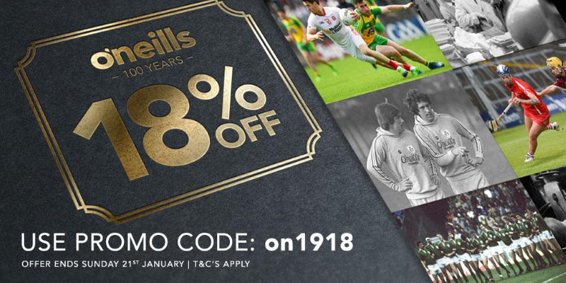 O'Neills Centenary Offer