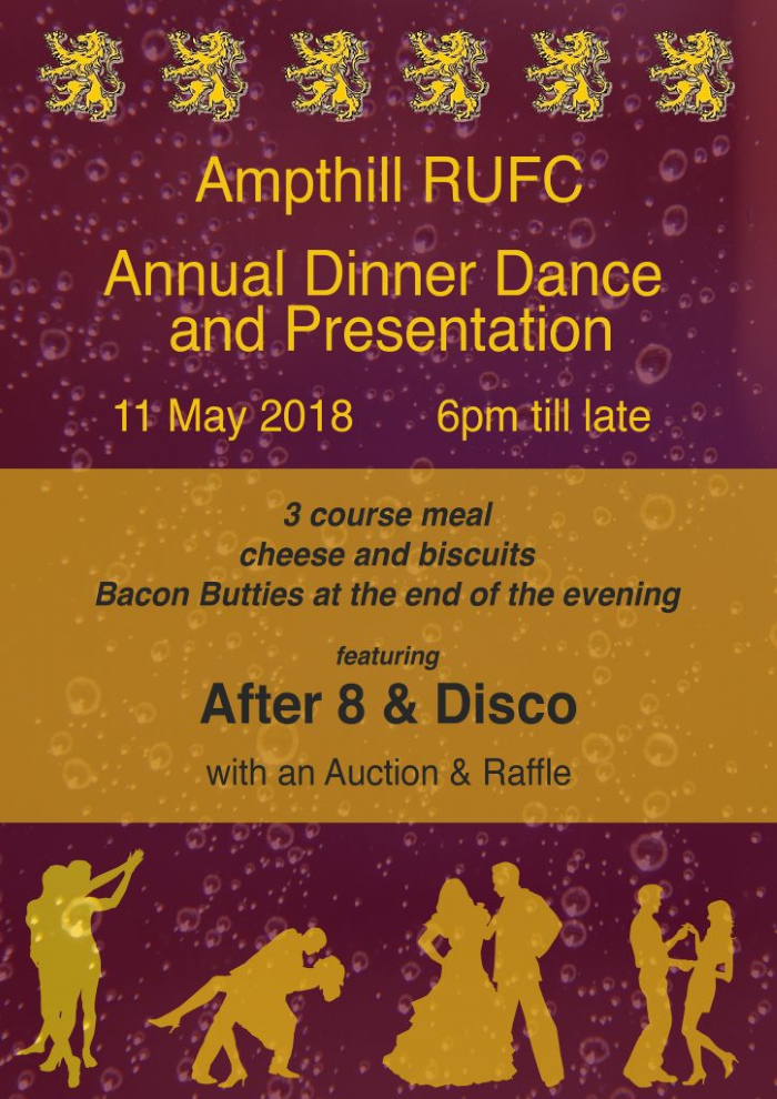 Annual Dinner Dance 11 May