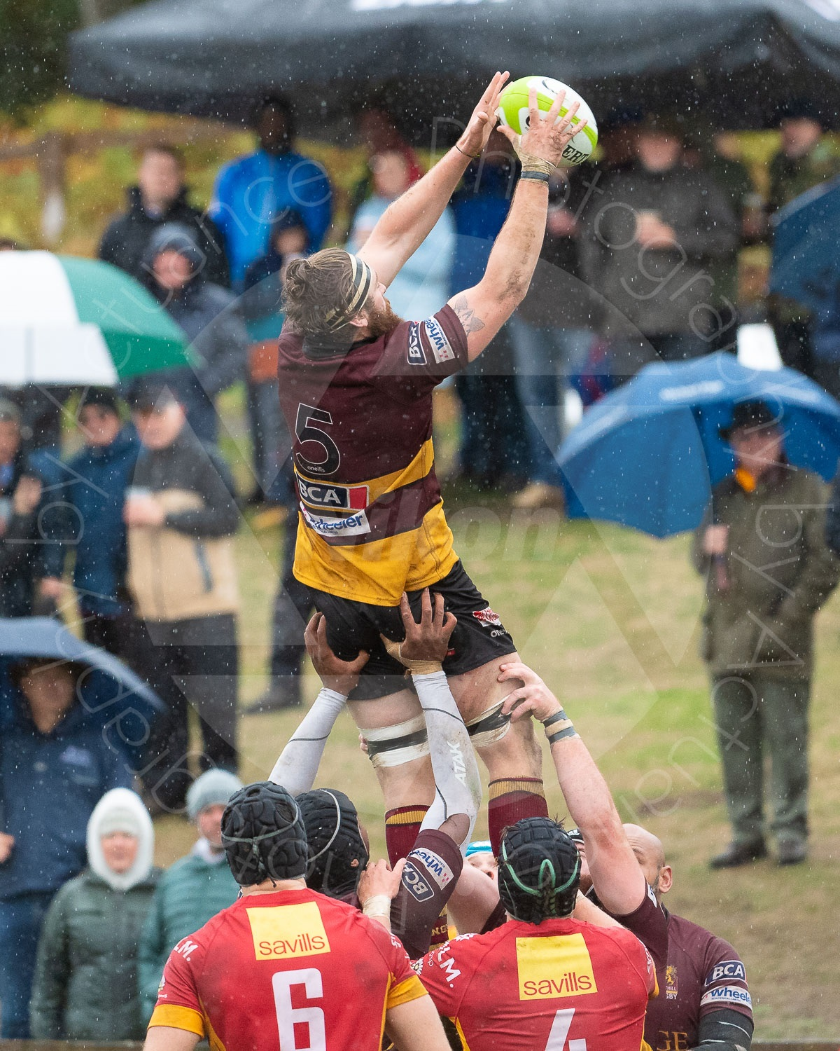 Josh Walker secures a lineout