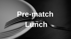 Pre-match lunch at Esher RFC – Saturday 5th January, 2018