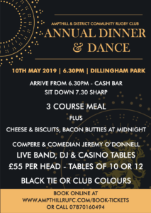 Dinner & Dance – Fri 10th May – Don't Miss Out!