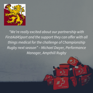 FirstAid4Sport & Ampthill Rugby Partnership