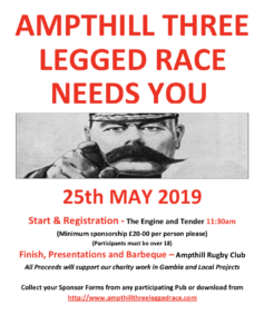 Ampthill Three Legged Race – 25th May 2019