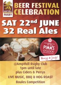 Ampthill Beer Festival – 22nd June 2019