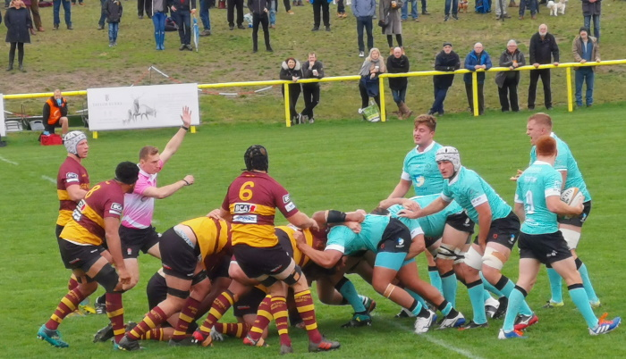 Ampthill Penalised At 1st Scrum