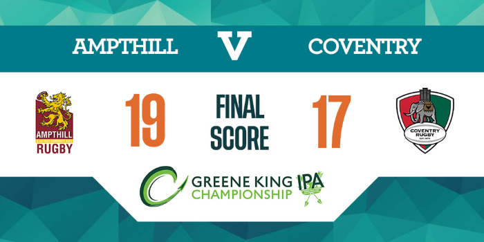 1stXV 19 Coventry 17, Sat Jan 11, 2020, Championship