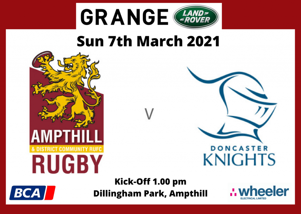 Ampthill team to face Doncaster Knights