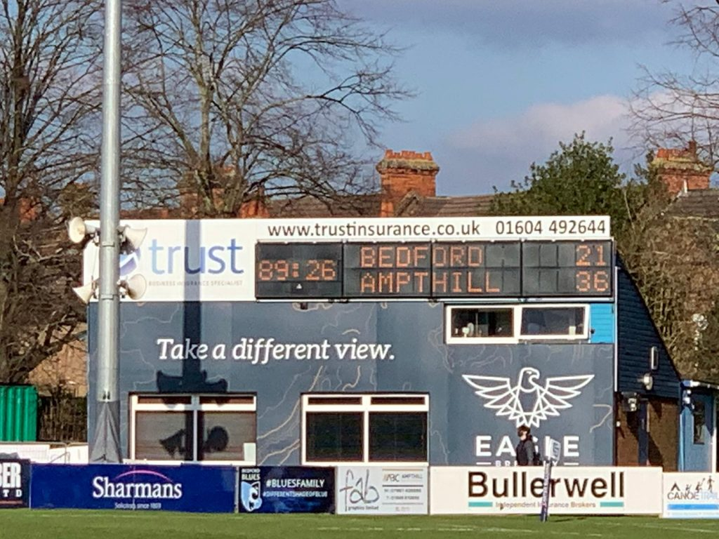 Match Report: Bedford Blues 21 v 36 1st XV (27/02/2021)