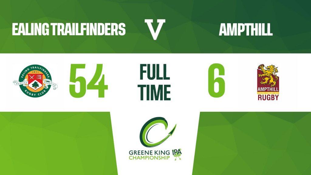 Ealing Trailfinders 54 v 6 1st XV – Greene King Ipa Championship, Round 2