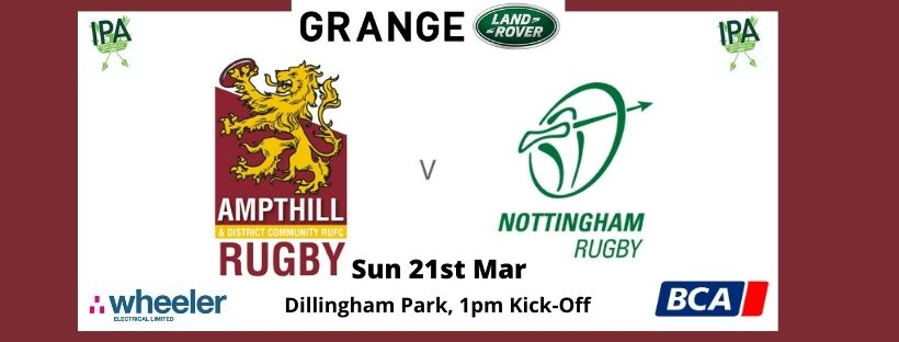 Match Preview: 1st XV v Nottingham Sun 21st Mar