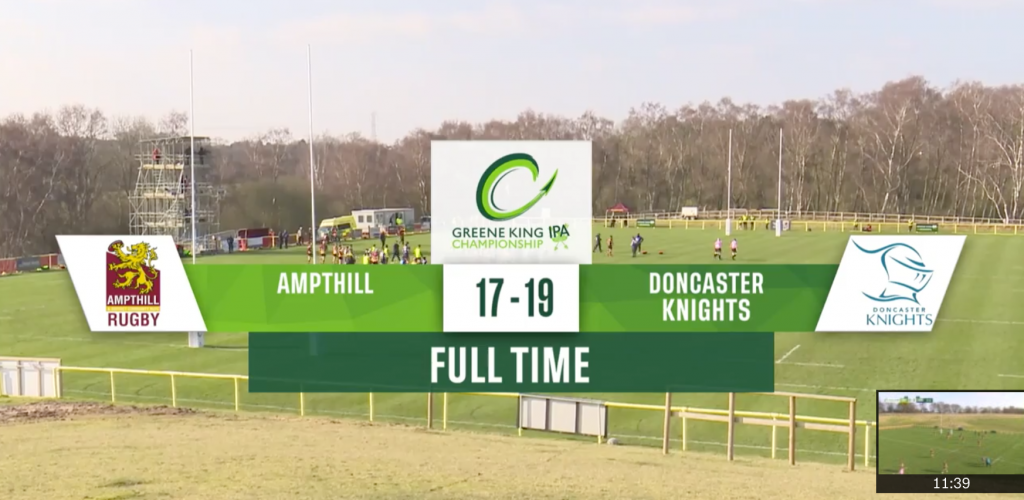 1st XV 17 v 19 Doncaster Knights – Match Highlights
