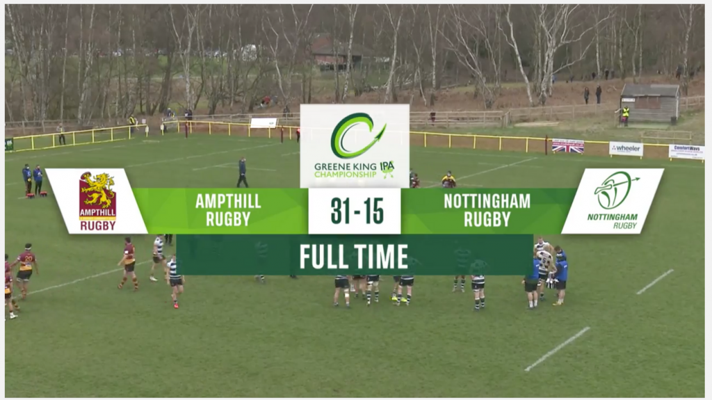 1st XV 31 v 15 Nottingham Rugby, Match Highlights