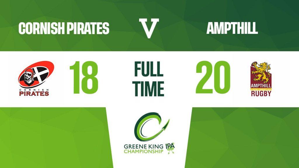 Match Report: Cornish Pirates 18 v 20 1st XV