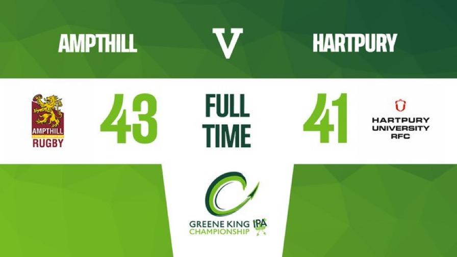 Match Report: 1st XV 43 v 41 Hartpury