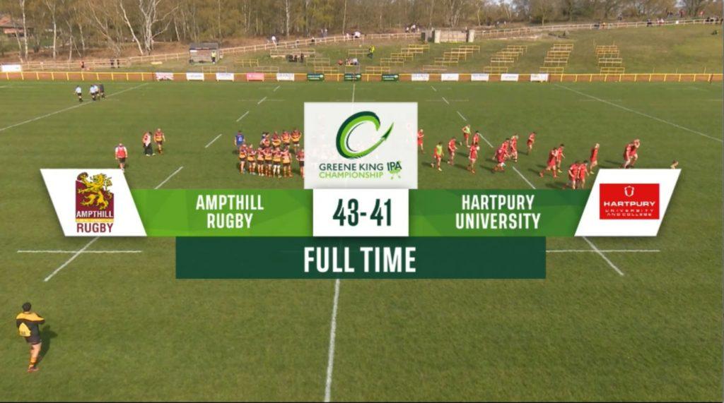 Match Highlights: 1st XV 43 v 41 Hartpury RFC