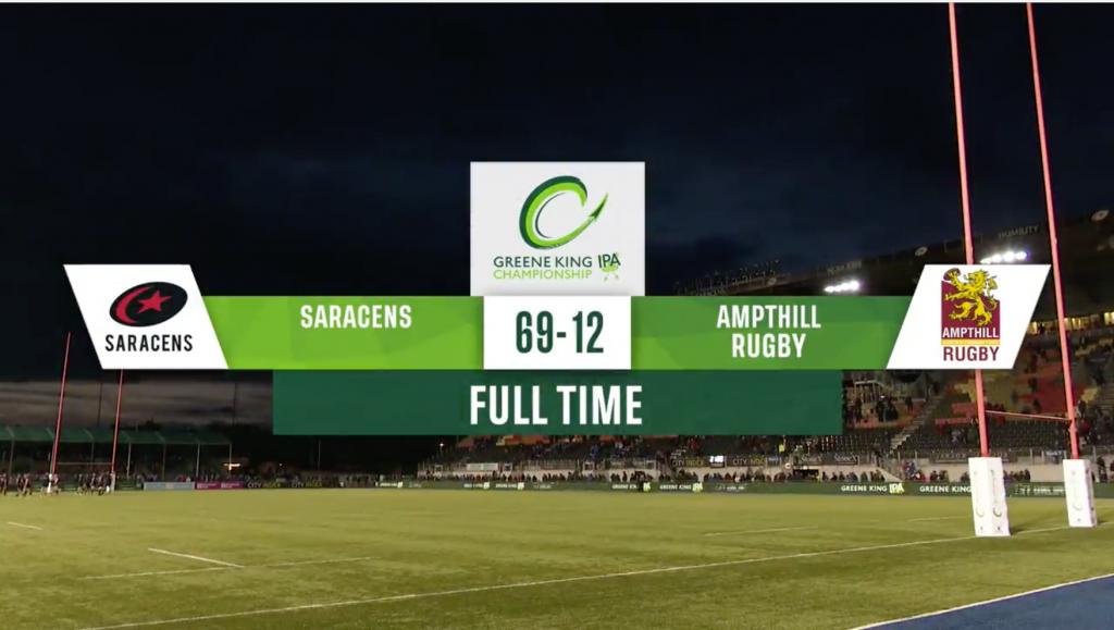 Saracens v Ampthill – Match Highlights