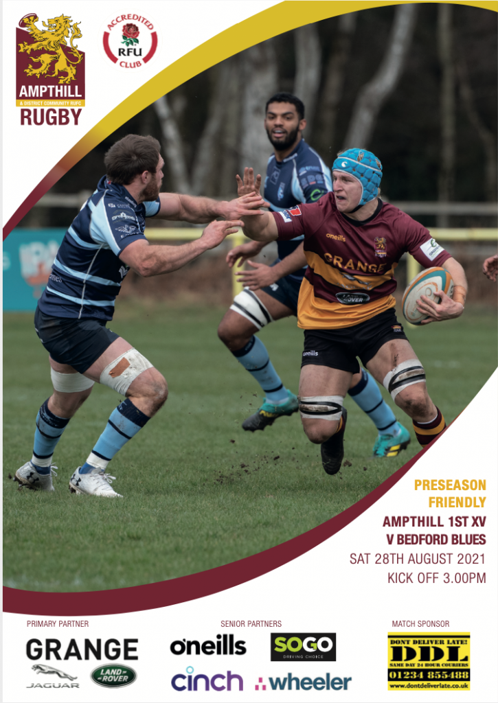 Match Programme – 1st XV v Bedford Blues